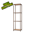 Trinity Bronze Anthracite Bamboo 4-Tier Shelving Tower