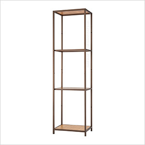 Bronze Anthracite Bamboo 4-Tier Shelving Tower