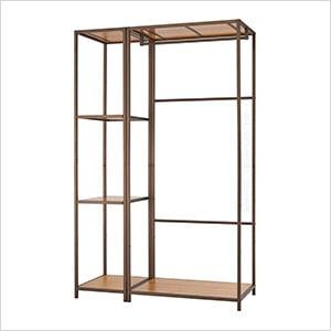 Bronze Anthracite Bamboo Modular Closet Organizer