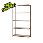 Trinity Bronze Anthracite Bamboo 5-Tier Shelving Rack
