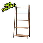 Trinity Bronze Anthracite Bamboo 5-Tier Leaning Rack