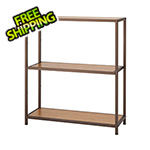 Trinity Bronze Anthracite Bamboo 3-Tier Shelving Rack