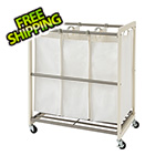 Trinity 3-Bag White Laundry Cart