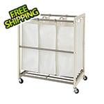 Trinity 3-Bag White Laundry Cart