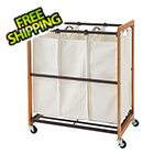 Trinity Bronze 3-Bag Laundry Cart