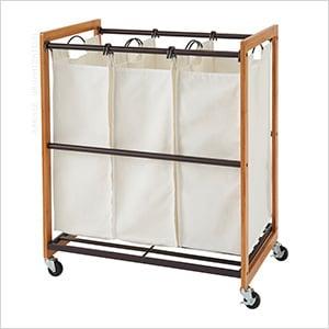 Bronze 3-Bag Laundry Cart
