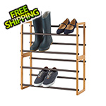 Trinity Bamboo 2-Tier Expandable Shoe Rack