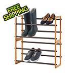 Trinity Bamboo 2-Tier Expandable Shoe Rack