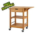 Trinity 24 In. Bamboo Kitchen Cart With Drop Leafs