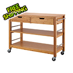 Trinity 48 In. Bamboo Kitchen Island With Drawers