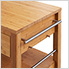 48 In. Bamboo Kitchen Island With Drawers