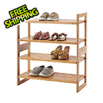 Trinity Bamboo 2-Tier Shoe Rack 2-Pack