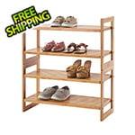 Trinity Bamboo 2-Tier Shoe Rack 2-Pack