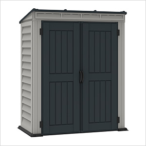 "Yardmate  5"" x 3' Vinyl Pent Shed with Floor"