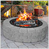 36 in. Round Fire Ring with Porcelain Coated Finish