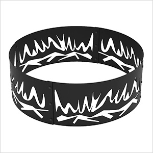 36 in. Round Abstract Fire Decorative Fire Ring
