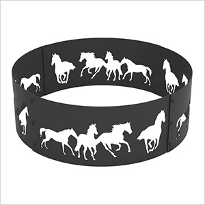 36 in. Round Horse Decorative Fire Ring