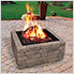 36 in. Square Fire Ring with Porcelain Coated Finish