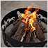 24 in. Round Fire Pit Log Grate