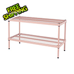 Design Ideas MeshWorks 2-Tier Short Stacking Shelf (Blush Pink)