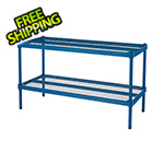 Design Ideas MeshWorks 2-Tier Short Stacking Shelf (Petrol Blue)