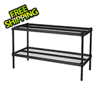 Design Ideas MeshWorks 2-Tier Short Stacking Shelf (Black)