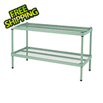 Design Ideas MeshWorks 2-Tier Short Stacking Shelf (Sage Green)