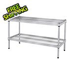 Design Ideas MeshWorks 2-Tier Short Stacking Shelf (Silver)