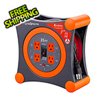 Link2Home 35 ft. Extension Cord Reel with 4 Grounded Outlets and Surge Protector
