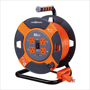 60 ft. Extension Cord Reel with 4 Grounded Outlets and Surge Protector