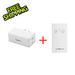Link2Home Indoor Wireless Remote Control 1 Polarized Receiver with 1 Transmitter