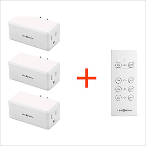 Indoor Wireless Remote Control 3 Grounded Receivers with 1 Transmitter