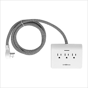 Power Dock Surge Protector 3 Outlets Power Strip with 4 USB Ports (White)