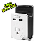 Link2Home Dual USB Port Power Adaptor with Smartphone Cradle
