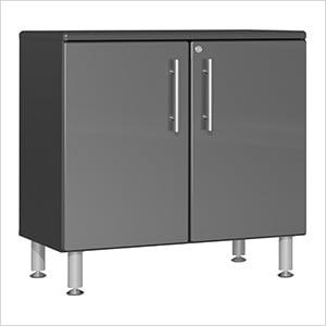 2-Door Oversized Base Garage Cabinet in Graphite Grey Metallic