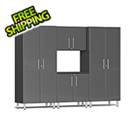 Ulti-MATE Garage Cabinets 4-Piece Cabinet Kit in Graphite Grey Metallic