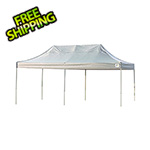 ShelterLogic 10x20 Straight Pop-up Canopy with Black Roller Bag (White Cover)