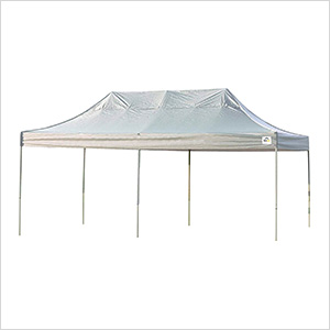 10x20 Straight Pop-up Canopy with Black Roller Bag (White Cover)