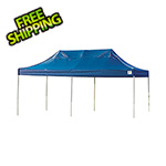 ShelterLogic 10x20 Straight Pop-up Canopy with Black Roller Bag (Blue Cover)