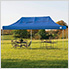 10x20 Straight Pop-up Canopy with Black Roller Bag (Blue Cover)