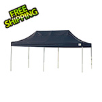 ShelterLogic 10x20 Straight Pop-up Canopy with Black Roller Bag (Black Cover)