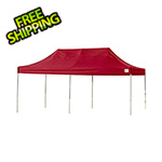 ShelterLogic 10x20 Straight Pop-up Canopy with Black Roller Bag (Red Cover)