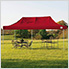 10x20 Straight Pop-up Canopy with Black Roller Bag (Red Cover)