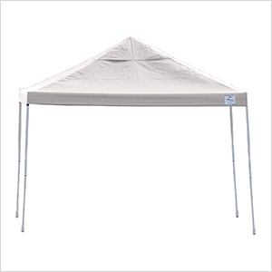 12x12 Straight Pop-up Canopy with Black Roller Bag (White Cover)