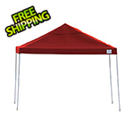 ShelterLogic 12x12 Straight Pop-up Canopy with Black Roller Bag (Red Cover)