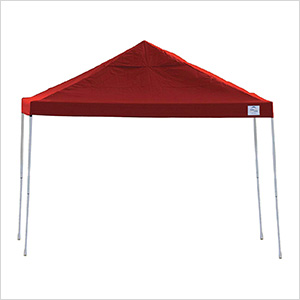 12x12 Straight Pop-up Canopy with Black Roller Bag (Red Cover)