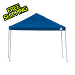 ShelterLogic 12x12 Straight Pop-up Canopy with Black Roller Bag (Blue Cover)