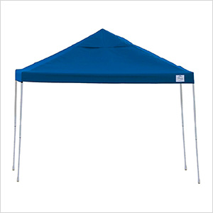 12x12 Straight Pop-up Canopy with Black Roller Bag (Blue Cover)