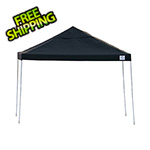 ShelterLogic 12x12 Straight Pop-up Canopy with Black Roller Bag (Black Cover)