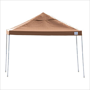 12x12 Straight Pop-up Canopy with Black Roller Bag (Desert Bronze Cover)